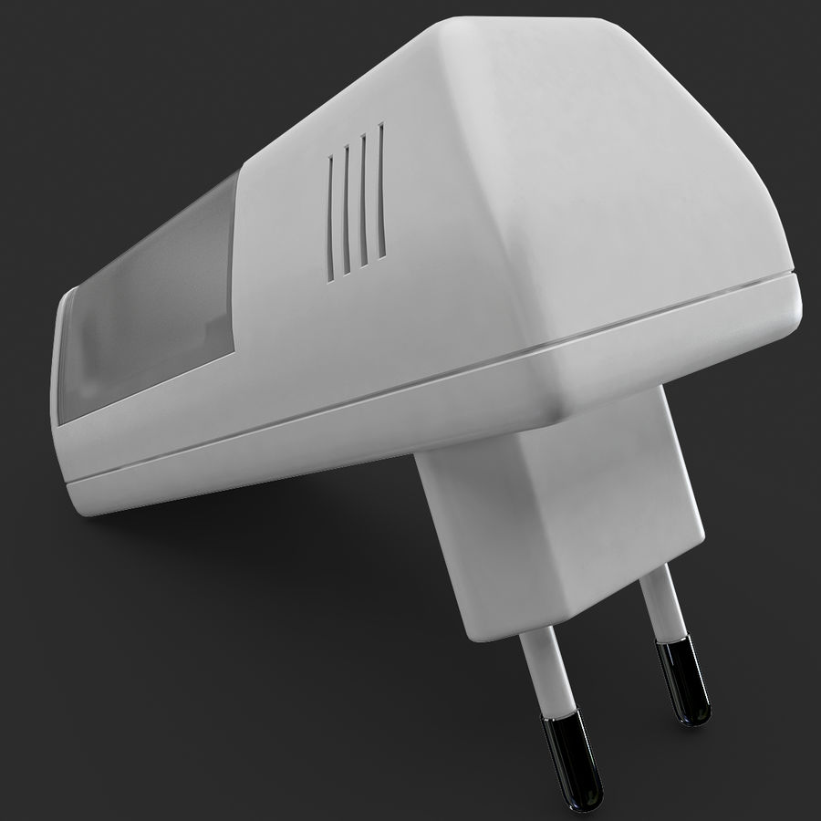AAA Batteries Charger royalty-free 3d model - Preview no. 10
