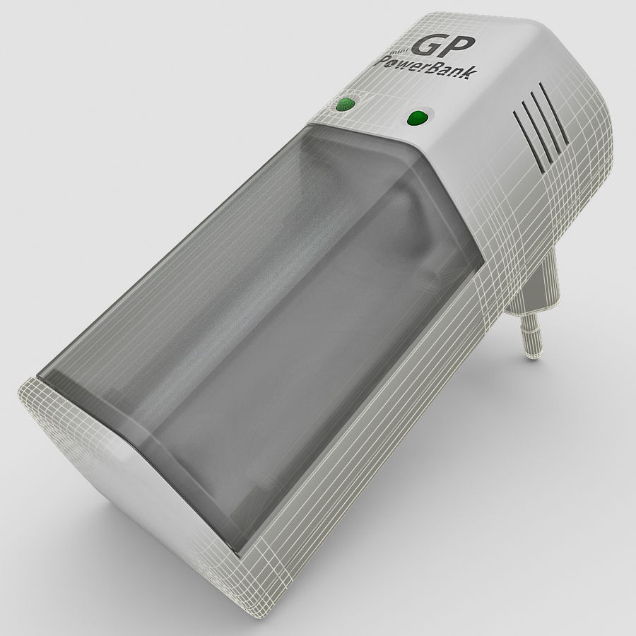 AAA Batteries Charger royalty-free 3d model - Preview no. 1