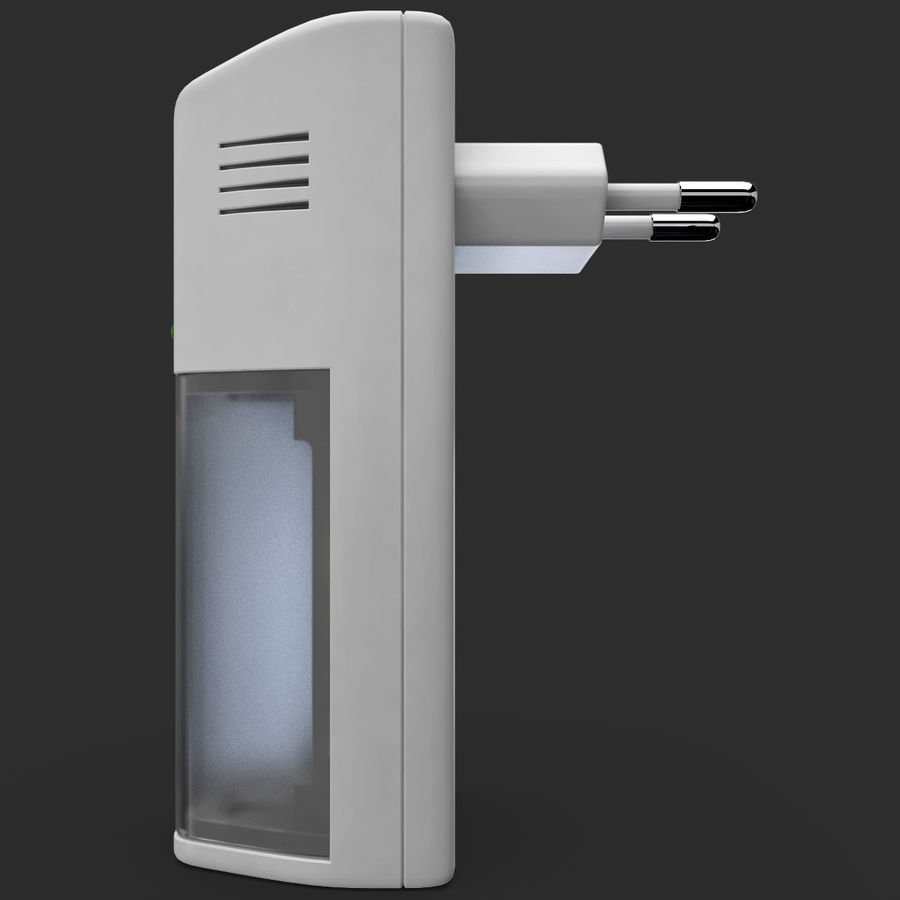 AAA Batteries Charger royalty-free 3d model - Preview no. 8