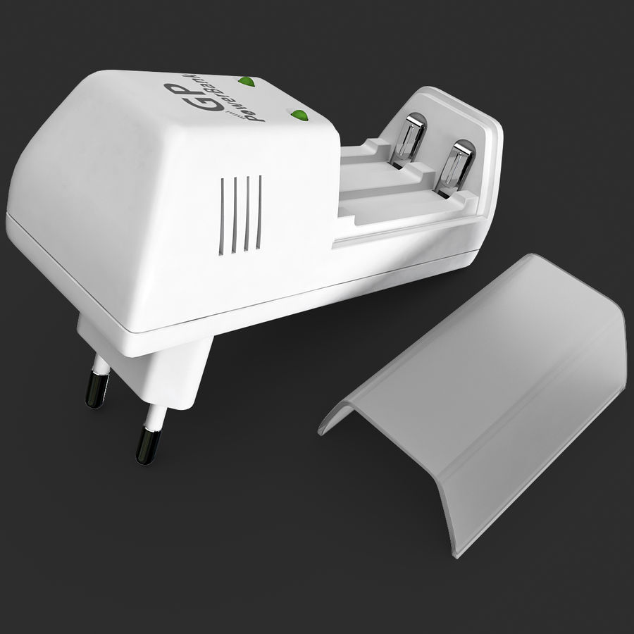 AAA Batteries Charger royalty-free 3d model - Preview no. 12