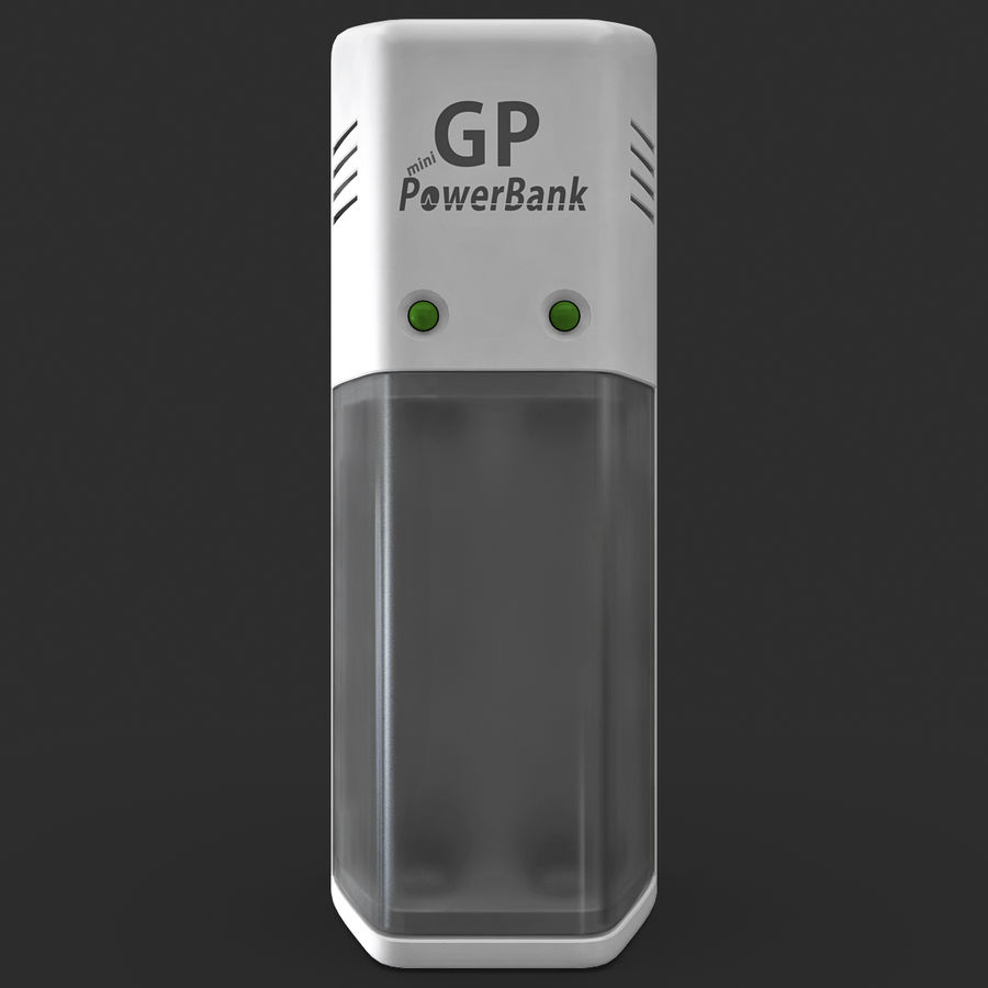 AAA Batteries Charger royalty-free 3d model - Preview no. 5