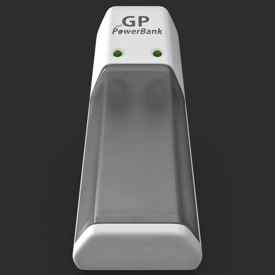 AAA Batteries Charger royalty-free 3d model - Preview no. 4