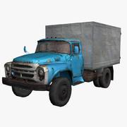 Truck_Old_Zil-130 3d model