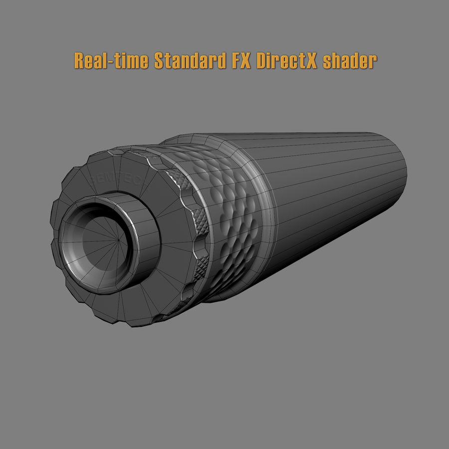 Gemtech TUNDRA-SV Silencer, 9mm, Black 3D Model $49 - .max .fbx .obj ...
