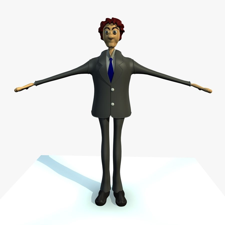 Robert The Cartoon Character 3D Model $39 -  obj  fbx  c4d
