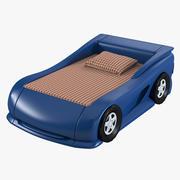 Auto Bett 3d model