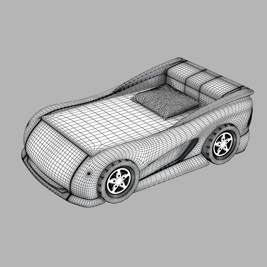 Car Bed royalty-free 3d model - Preview no. 7