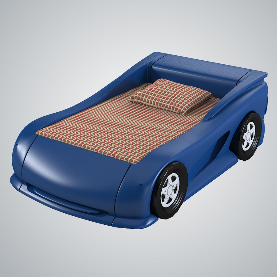 Car Bed royalty-free 3d model - Preview no. 2