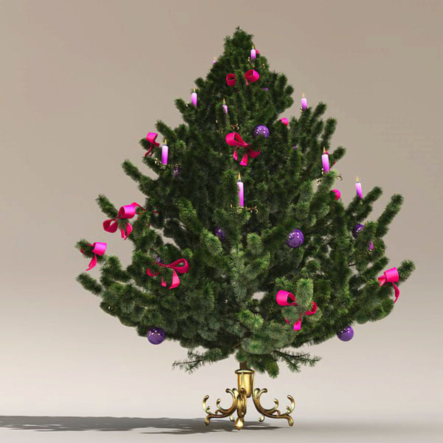 圣诞树 royalty-free 3d model - Preview no. 5