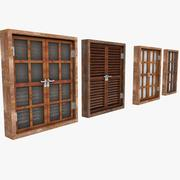 Wooden Window Shutter Frame sill ledge parapet 3d model