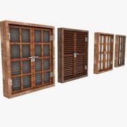 Wooden Window Shutter Frame sill ledge parapet 3d model