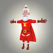 cartoon man 25 super santa 3d model