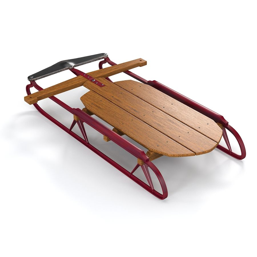 Vintage Flexible Flyer Snow Sled royalty-free 3d model - Preview no. 5