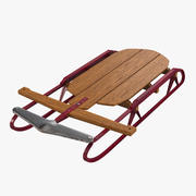 Vintage Flexible Flyer Snow Sled 3d model