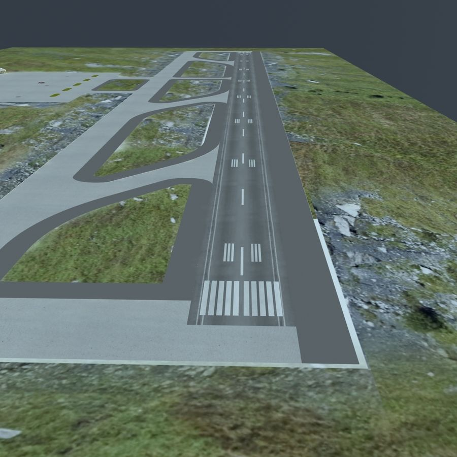 Piccolo aeroporto royalty-free 3d model - Preview no. 17