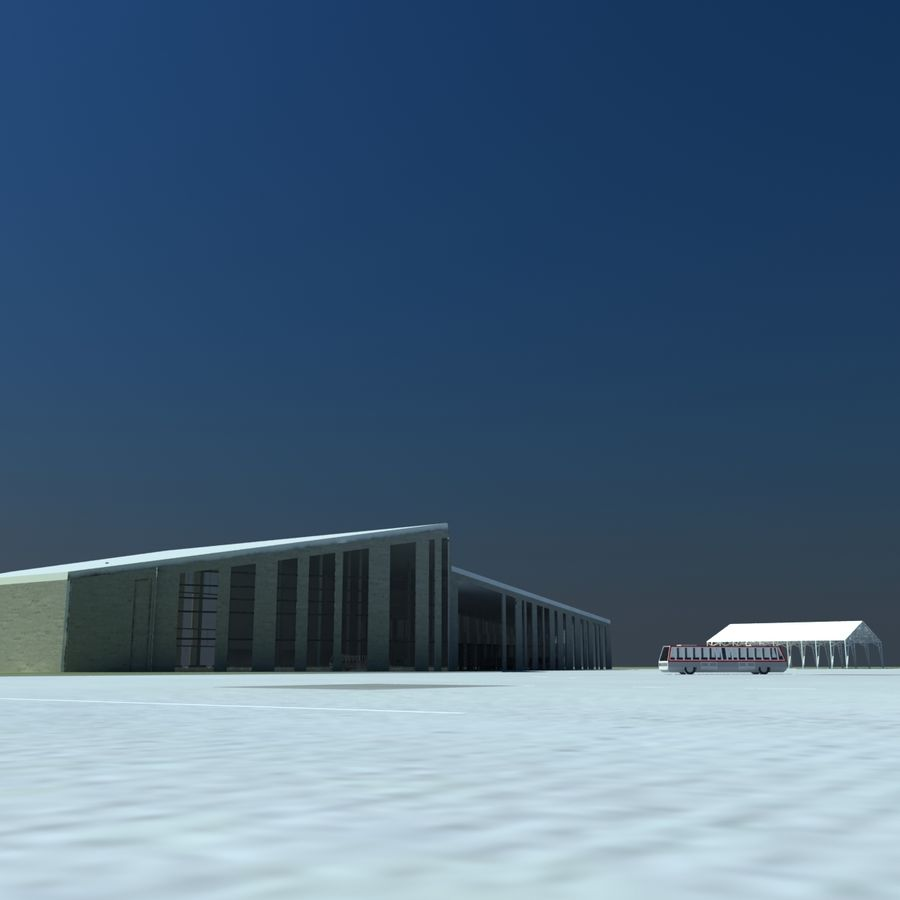 Piccolo aeroporto royalty-free 3d model - Preview no. 6