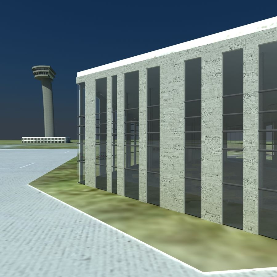 Piccolo aeroporto royalty-free 3d model - Preview no. 9