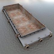 Barge Bulk Cargo 3d model