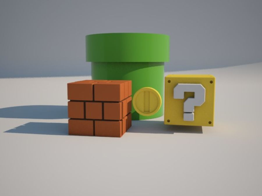 Mario Bros. Props royalty-free modelo 3d - Preview no. 3