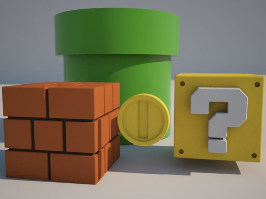 Mario Bros. Props royalty-free modelo 3d - Preview no. 1