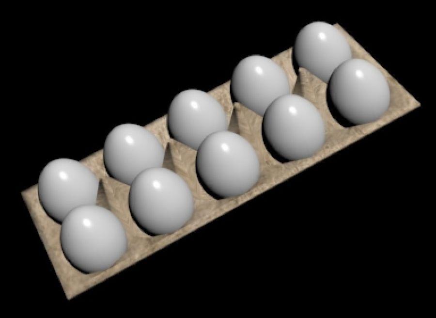 Carton de huevos royalty-free modelo 3d - Preview no. 6
