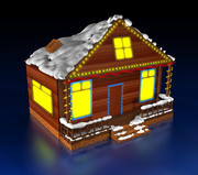 크리스마스 하우스 3d model
