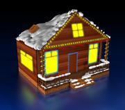クリスマスハウス 3d model
