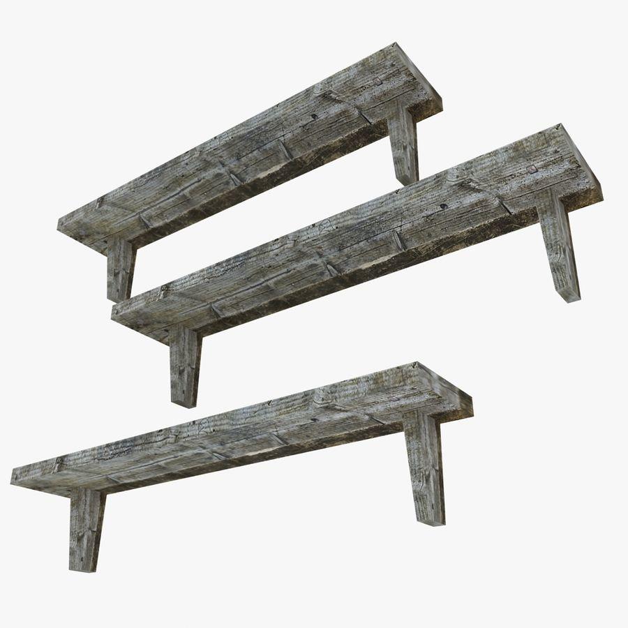 Regały drewniane royalty-free 3d model - Preview no. 3