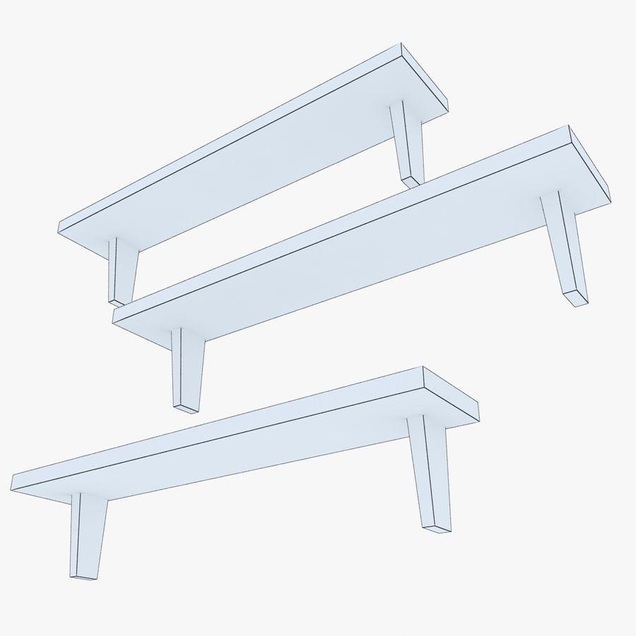 Regały drewniane royalty-free 3d model - Preview no. 4
