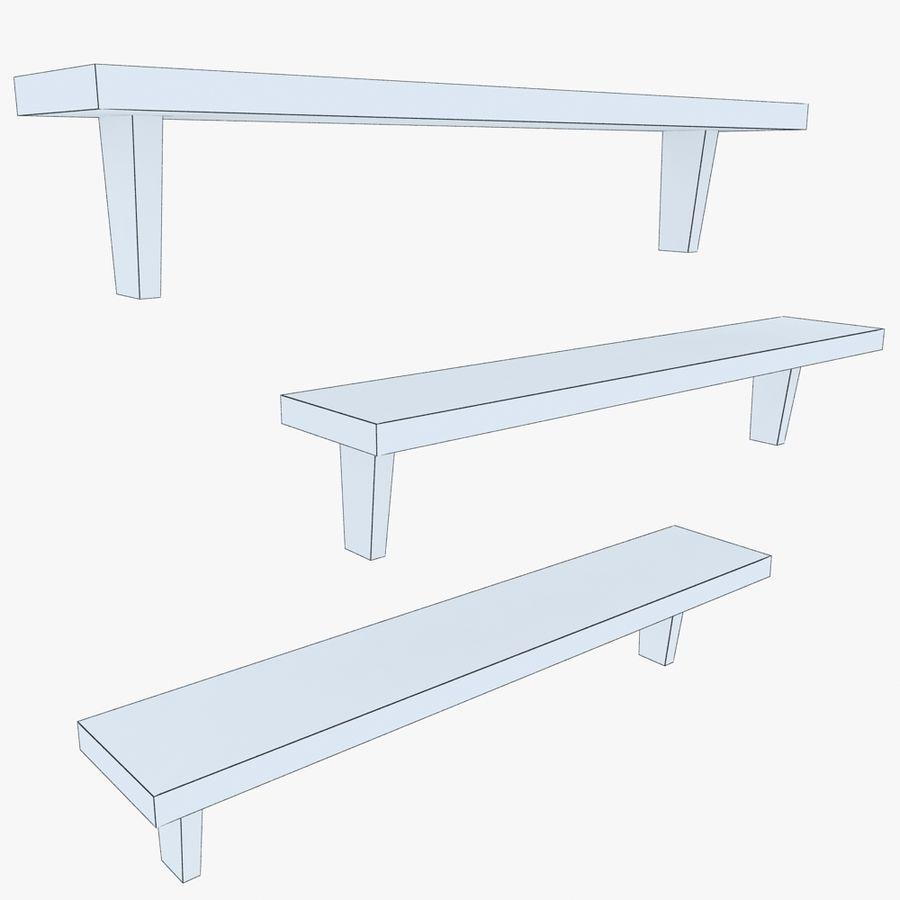 Regały drewniane royalty-free 3d model - Preview no. 5