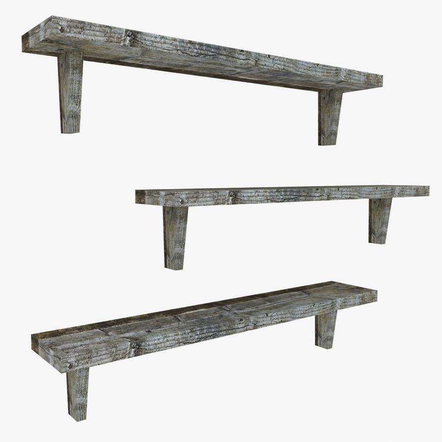 Regały drewniane royalty-free 3d model - Preview no. 1