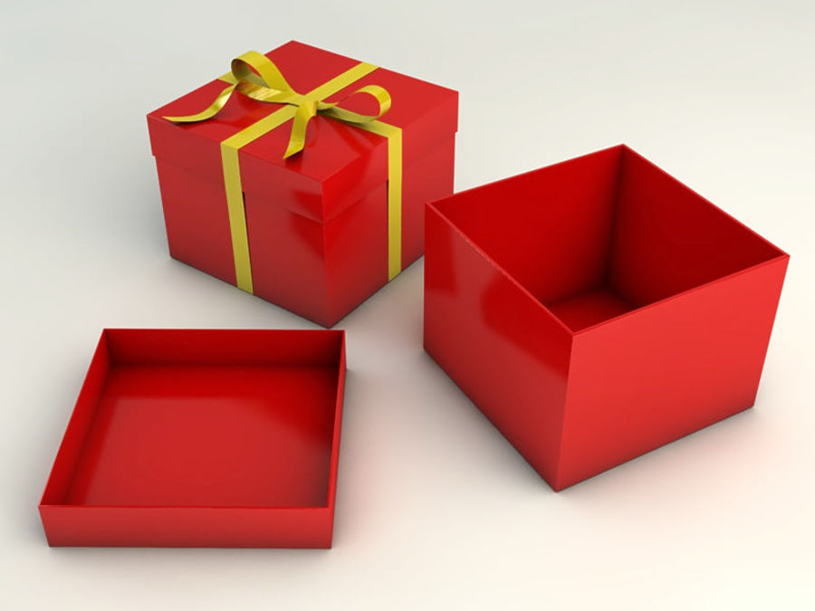 Geschenkbox royalty-free 3d model - Preview no. 3
