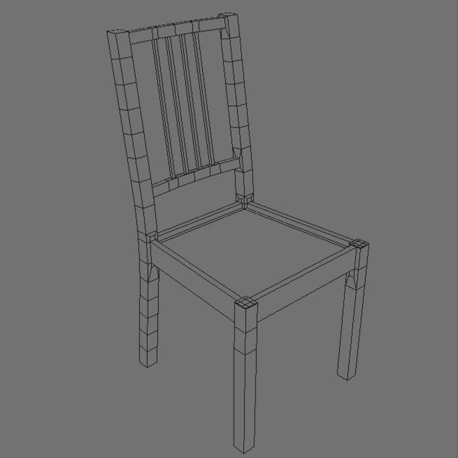 Proste krzesło royalty-free 3d model - Preview no. 5
