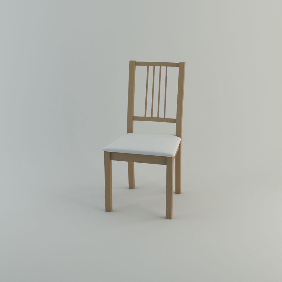 Proste krzesło royalty-free 3d model - Preview no. 7