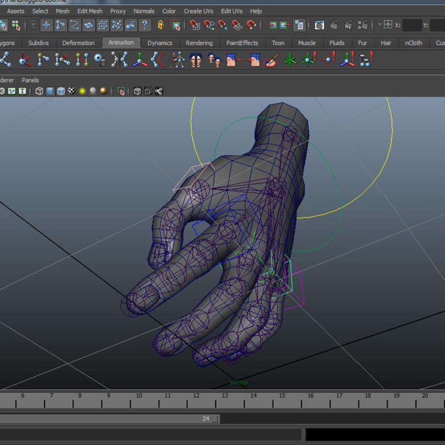 Mano aparejada royalty-free modelo 3d - Preview no. 3