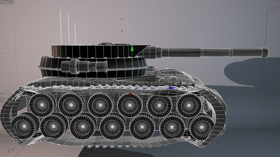 Czołg o dużej mocy royalty-free 3d model - Preview no. 5