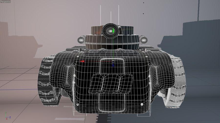 Czołg o dużej mocy royalty-free 3d model - Preview no. 4