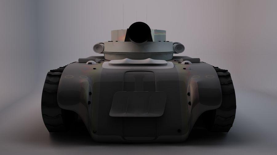 Czołg o dużej mocy royalty-free 3d model - Preview no. 3