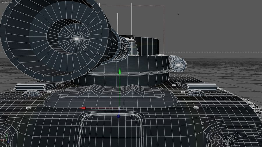 Czołg o dużej mocy royalty-free 3d model - Preview no. 6
