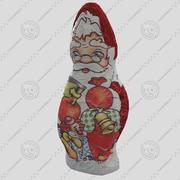 Jultomten choklad 2 3d model