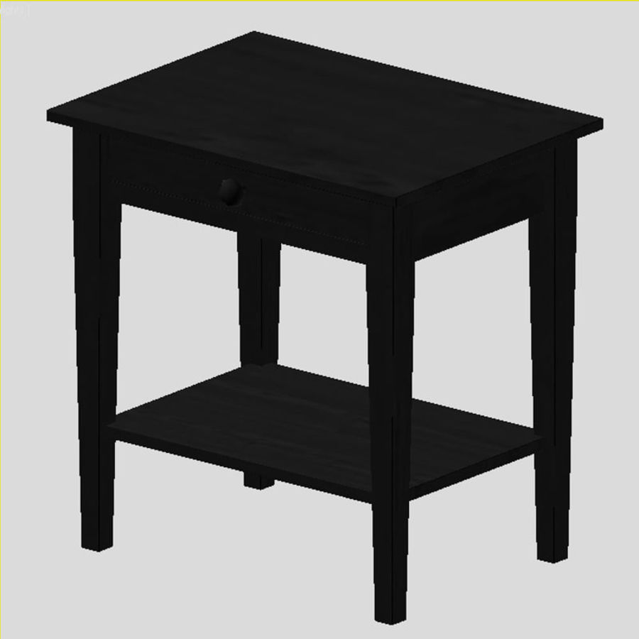 table de chevet royalty-free 3d model - Preview no. 5