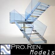 Escalier pour intérieurs architecturaux 001 3d model