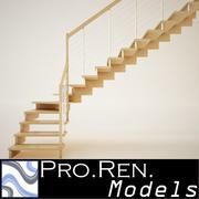 Trappa för arkitektoniska inredningar 003 3d model
