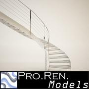 Stair for architectural interiors 005 3d model