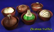 christmas chocolates (truffles) 3d model