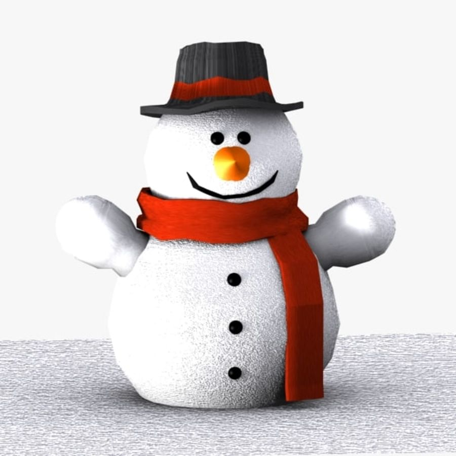 Открытка 3 снеговика