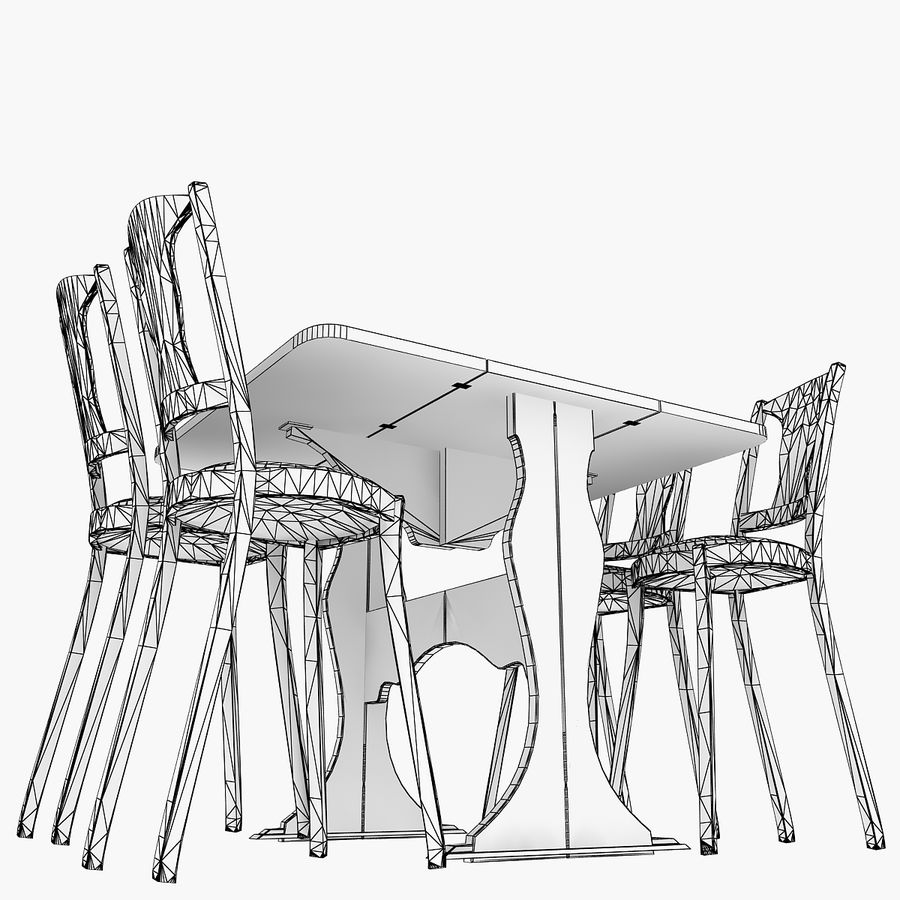 folding table royalty-free 3d model - Preview no. 9