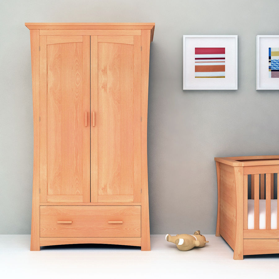 Childs Room Cupboard royalty-free 3d model - Preview no. 3