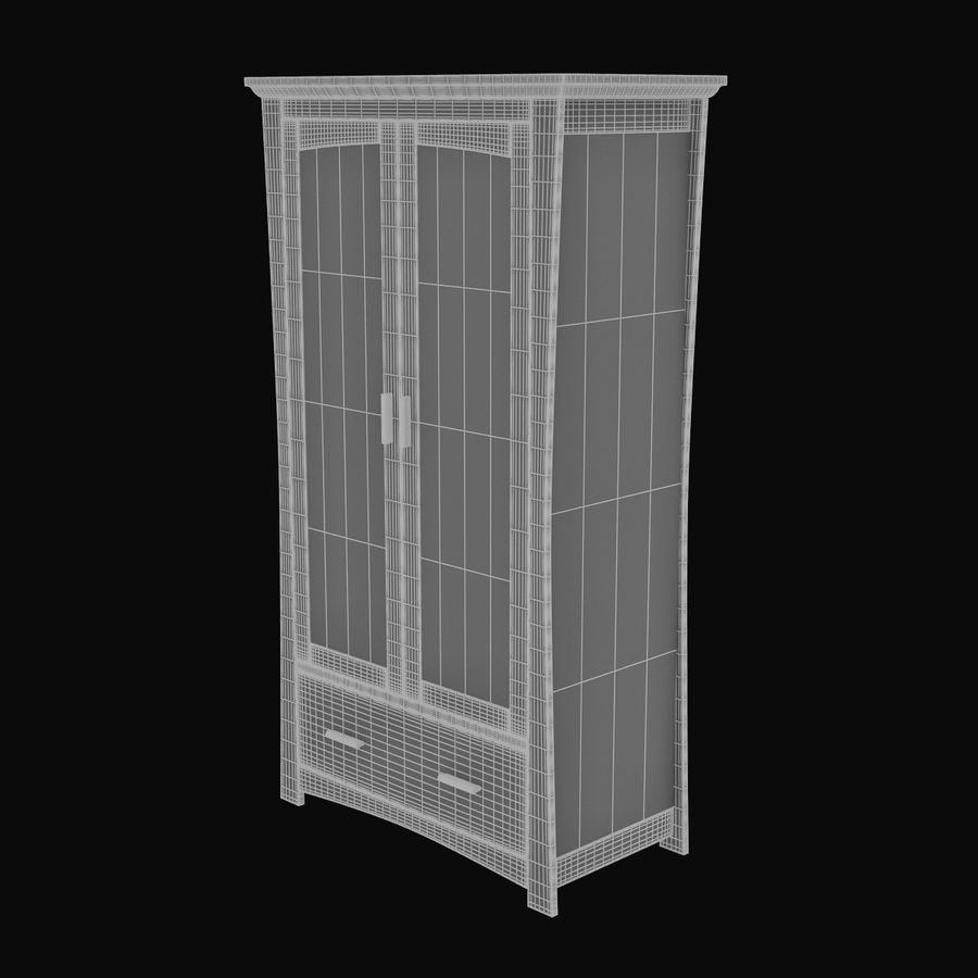 Childs Room Cupboard royalty-free 3d model - Preview no. 8