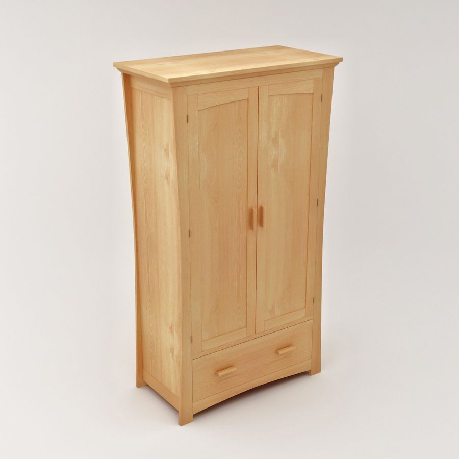 Childs Room Cupboard royalty-free 3d model - Preview no. 2